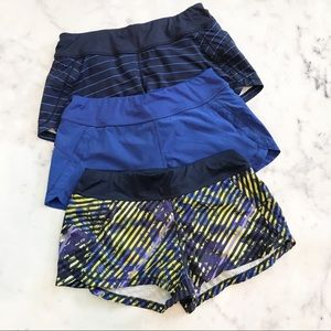 Athleta Pulse Running Shorts 3 pair bundle